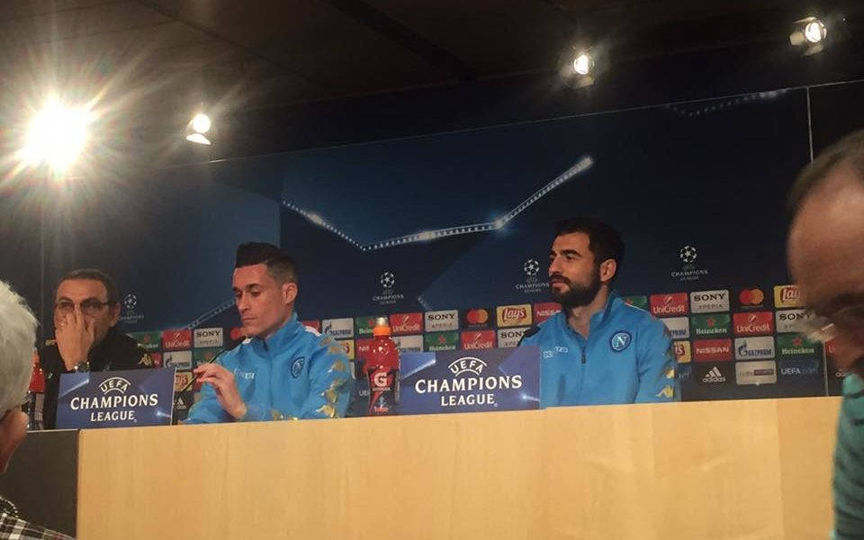 Real Madrid - Napoli: Sarri , Albiol e Callejon in conferenza