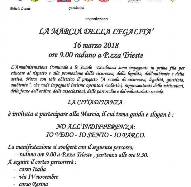 44304f4b7c Marcia della Legalità, domani migliaia di bambini in corteo per le strade  di Ercolano